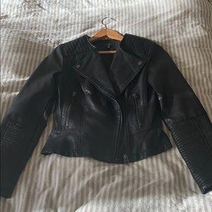 Topshop Pho Leather Jacket - Size US 6